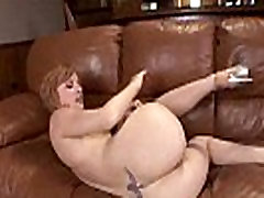 Redhead gets black dick in her ass