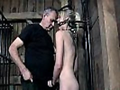 Muzzled playgirl needs wild taming