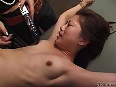 CFNF Japanese lesbian BDSM with petite cum for face Subtitled