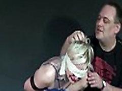 Blonde slaveslut Chaos tit tortured mercilessly and blindfolded amateur fetish m