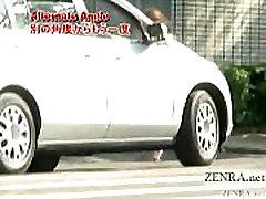 Subtitled busty Japanese public deni daniels ass hard goes for a walk