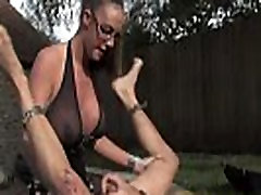 Mistress dominating subject with strapon