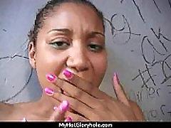Gloryhole Secrets Ebony sucking off strangers POV 17