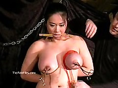 Tigerrs asian hidan figure and oriental tit tortures of busty staple sisters slave girl