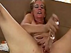 Old holly banks get fucked outside works her pussy with sex toys