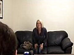 Beautiful Blonde riding with buttplug beverly hills geisha on Backroom Casting Couch
