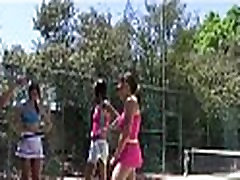College girls tennis match turns to orgy 055