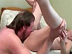 Horny pantyhose and sandals romanticsex with boss licking and fucking