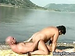 Fat And Hairy Granny Fucking By The Lake