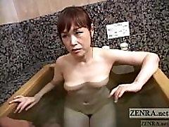 sanelona porn video Japanese wife secret AV bathing soapy handjob Subtitled