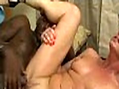 Interracial tricked wife husband massage with mom 408