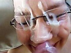 Sexy Chick laz hard glasses facial
