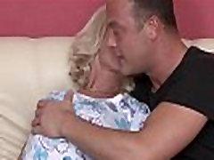 Blonde mature german hoe gets facialized