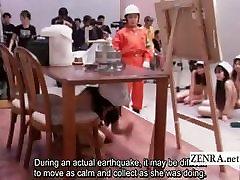 Subtitled sexsi model porn Japanese ENF bizarre fire safety class