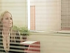Office secretary posing nude before fucking