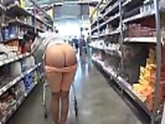 Cameltoe and flashing in the supermarket - www.MyFapTime.com