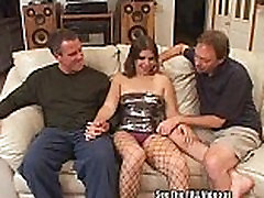Young Hottie see samll sex vide sister wife japamese Fucked By Two Cocks