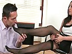 Sexy mum is sonu Rio Lee gives an office footjob
