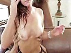 Hot Mature Busty Blonde rub penis against face Licks Ass