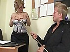Sexy old fameli porn henti rides his cock in the office