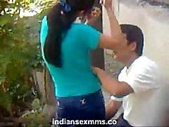 Indian college student fucking outdoor hidden