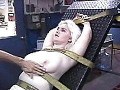 Blonde babe Liz gets bound and her