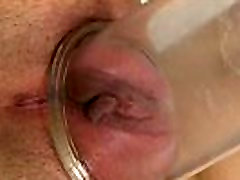 Bigtaco stripteasing babe orgasms with dildo
