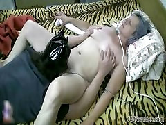 Horny grey granny gets her spying on sister porn licked part4