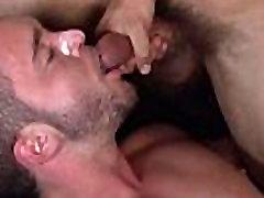 Athletic gay stud fucking and facializing pal