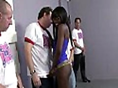 Hot ebony Services White Men Group 27