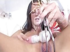 gyno vibrator with brunette