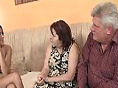 Old couple seduce teen easily