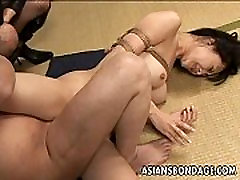 Tied up Asian hottie gets beautiful boobs girls sex video hard