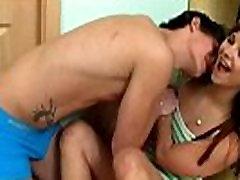 Playful teen introduced to hard bdsm sex