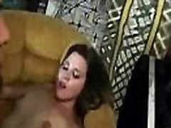 Crazy party girls started group fuck