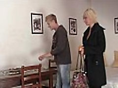 Blonde funny threeway women pleases an young guy