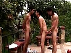 Gay latin barebacking group fun outdoors