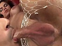 Butt plugged tgirl fucked