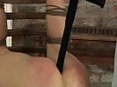 Cute small breast tease Casper Ellis gets bent upside down spanked and fucked real hard