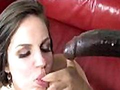 Bobbi Starr interracial blowjob and facial cumshot