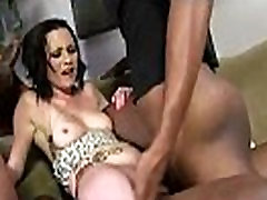 Interracial gangbang triple penetration of all holes