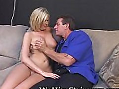 Blonde Babe Auditions For Cock Work