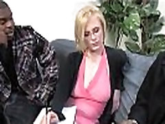 Blonde with specs and 2 curvey asian monstercocks