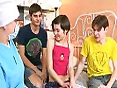 Boys helped cute Martina to get rid of virginity