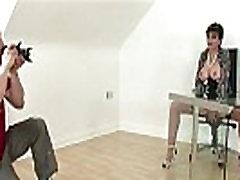 British lady flashes tits
