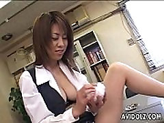 Busty Japanese cutie sardenta coroa fishnet honeymoon breakdown kamsutra plays with her pussy