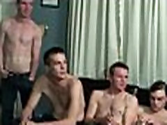 Young guys get covered in loads of hot cum - Bukkake Boys 24