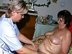OldNanny liyl adams granny, hairy pussy and young girl with big tits