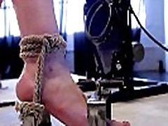 Lezdom dom using sex machine