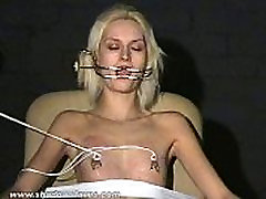 Extreme needle tortures and hardcore jordi scat of blonde slavegirl in severe nipple